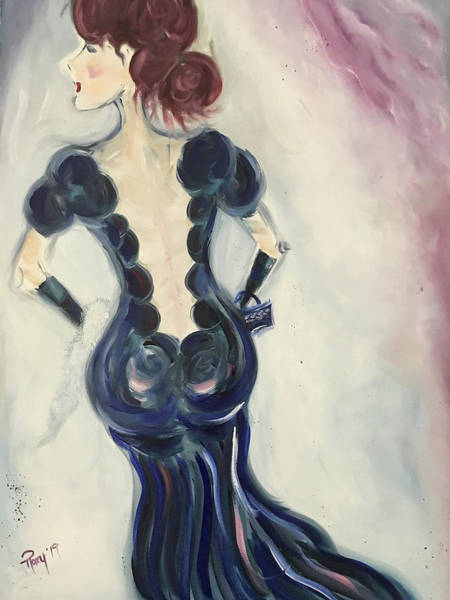 Wall Art - Painting - Backless Beauty by Roxy Rich