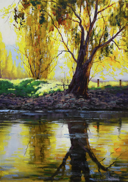 Wall Art - Painting - Backlight Tumut River by Graham Gercken