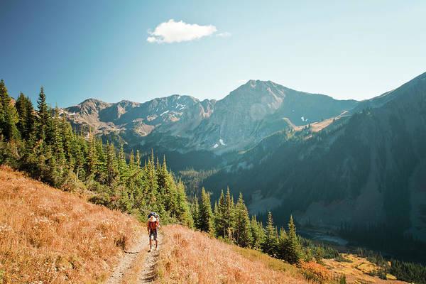 Pemberton Photograph - Backpacker On Road by Christopher Kimmel