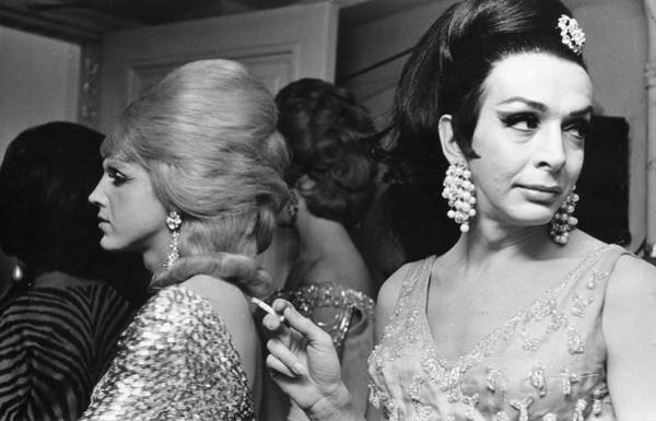 Contest Photograph - Backstage At Drag Beauty Contest by Fred W. McDarrah