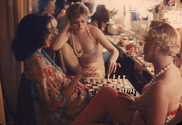Color Image Photograph - Backstage At The Latin Quarter by Gordon Parks