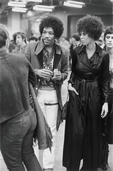 Jimi Hendrix Photograph - Backstage At The Winter Concert For by Fred W. McDarrah