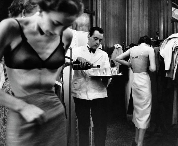 Fashion Model Photograph - Backstage by Kurt Hutton