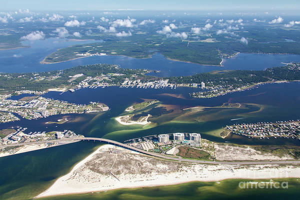 Photograph - Backwaters 5122-a by Gulf Coast Aerials -