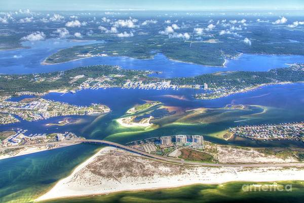 Photograph - Backwaters 5122 Tonemapped by Gulf Coast Aerials -