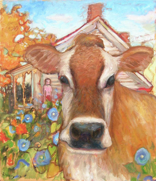 Painting - Backyard Cow by Paul Emory