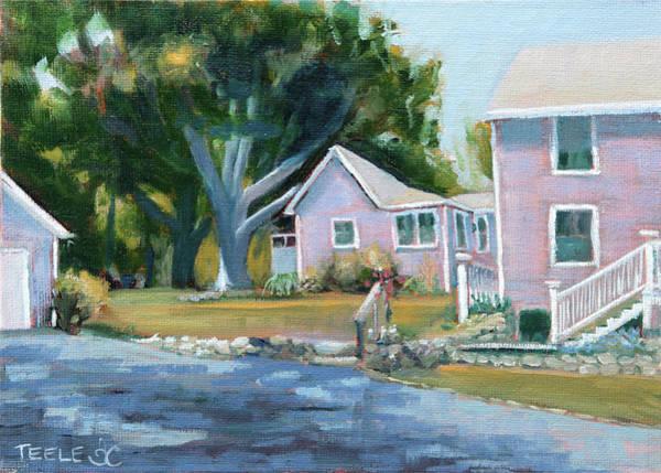 Painting - Backyard Trees by Trina Teele
