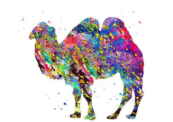 Wall Art - Digital Art - Bactrian Camel by Erzebet S