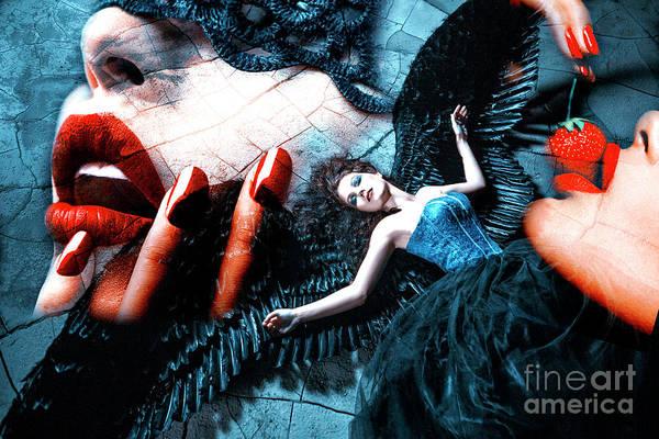Digital Art - Bad Angel Blues by John Rizzuto
