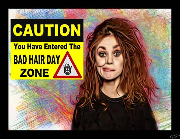 Bad Hair Day Digital Art - Bad Hair Day Zone by Eugene Eggers
