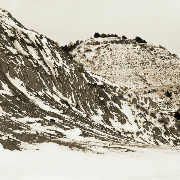 Photograph - Badlands In January by Cris Fulton