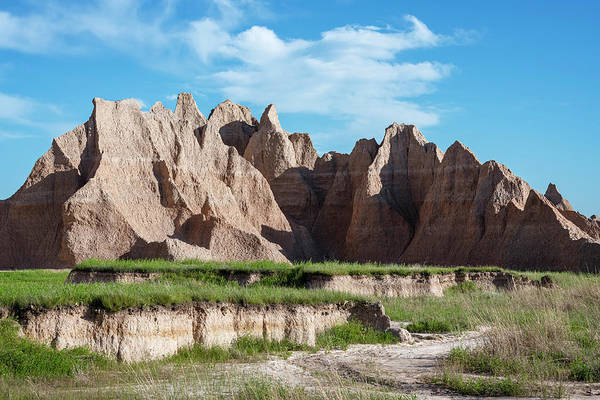 Wall Art - Photograph - Badlands National Park Hiking by Joan Carroll