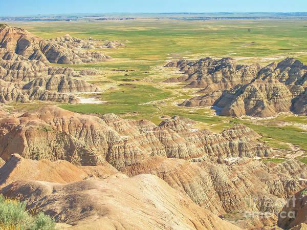 Photograph - Badlands National Park Of South Dakota by Benny Marty