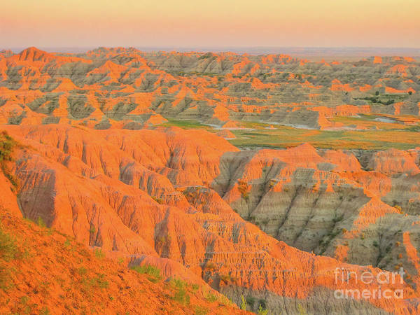 Photograph - Badlands Np At Sunset by Benny Marty