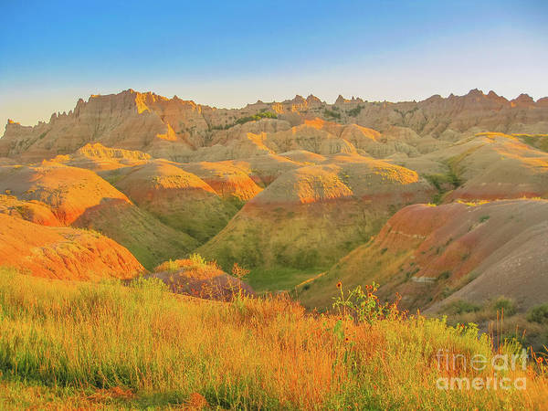 Photograph - Badlands South Dakota At Sunset by Benny Marty