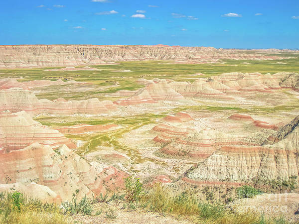 Photograph - Badlands Stone Formations by Benny Marty
