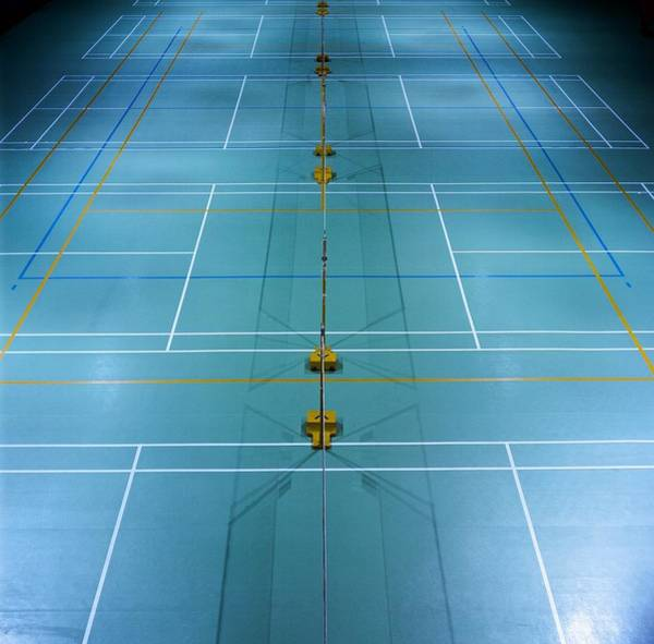 Court Photograph - Badminton Court by Huang