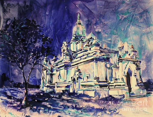 Wall Art - Painting - Bagan- Myanmar by Ryan Fox