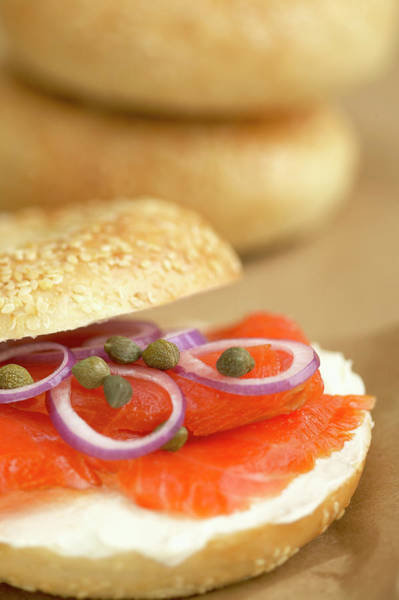 Wall Art - Photograph - Bagel With Smoked Salmon by Roderick Chen