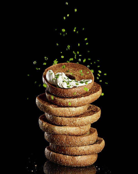 Wall Art - Photograph - Bagels With Cream Cheese by Bill Diodato
