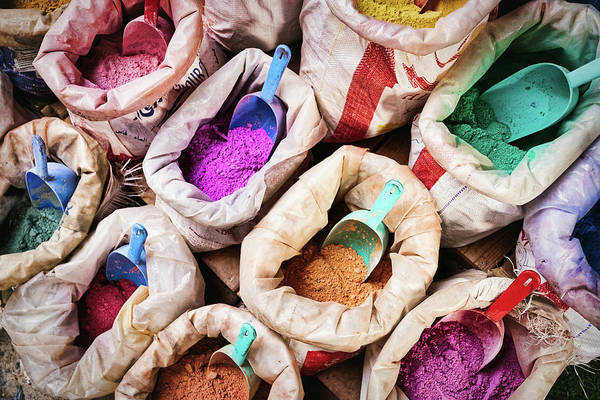 Photograph - Bags Of Dye - Morocco by Stuart Litoff