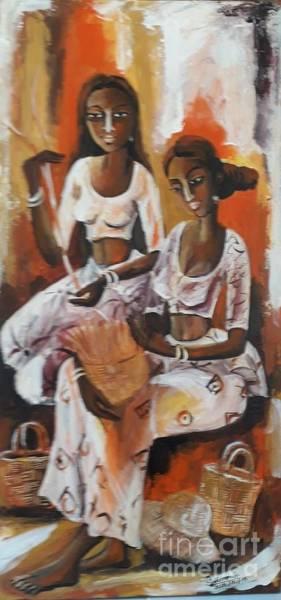 Wall Art - Painting - Bags Weavers by Sudumenike Wijesooriya