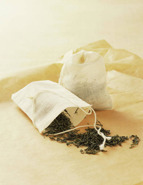 Tea Photograph - Bags With Tea Leaves by Armstrong Studios