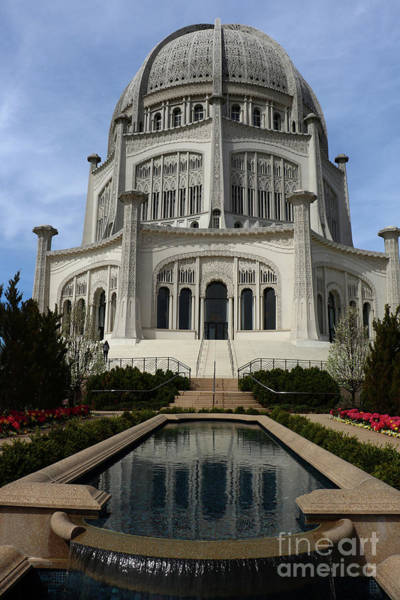 Wall Art - Photograph - Bahai House Of Worship   Wilmette Illinois by Christiane Schulze Art And Photography