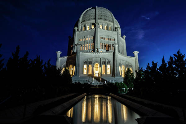 Photograph - Bahai's Temple At Dawn  by Sven Brogren