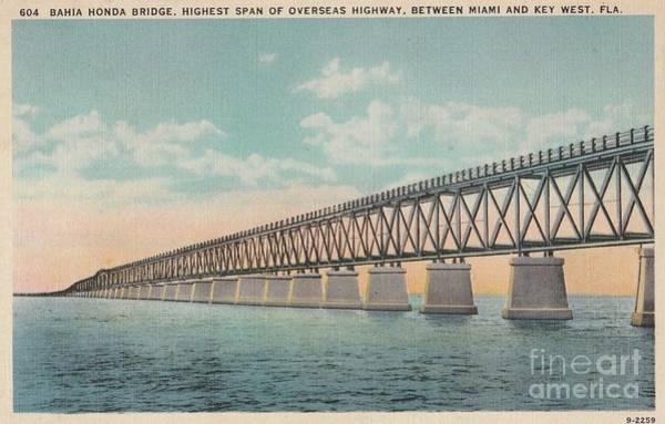 Photograph - Bahia Honda Bridge by Flavia Westerwelle