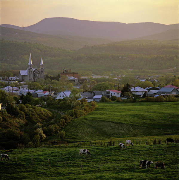 Charlevoix Photograph - Baie-saint-paul Church And Field With by Claude Bouchard