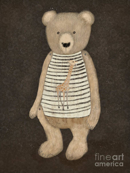 Teddy Bear Painting - Bailey Bear by Bri Buckley