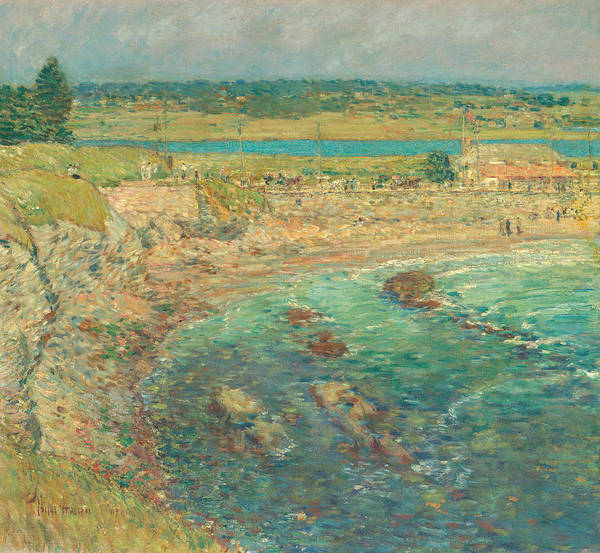 Wall Art - Painting - Bailey's Beach, Newport, R.i. by Childe Hassam