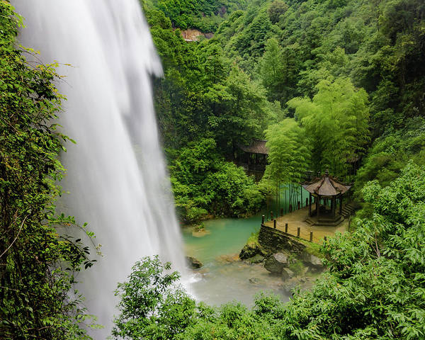 Photograph - Baiyun Waterfall by William Dickman