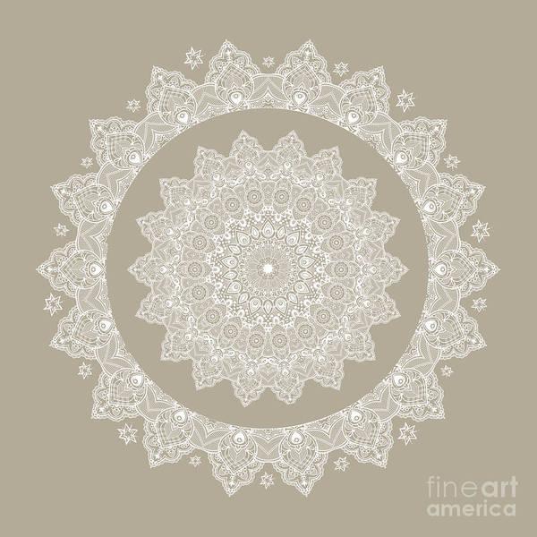 Digital Art - Baja Dunes Mandala Lace Pattern  by Sharon Mau