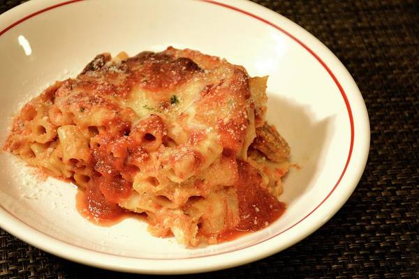 Photograph - Baked Ziti Serving 3 by Angie Tirado
