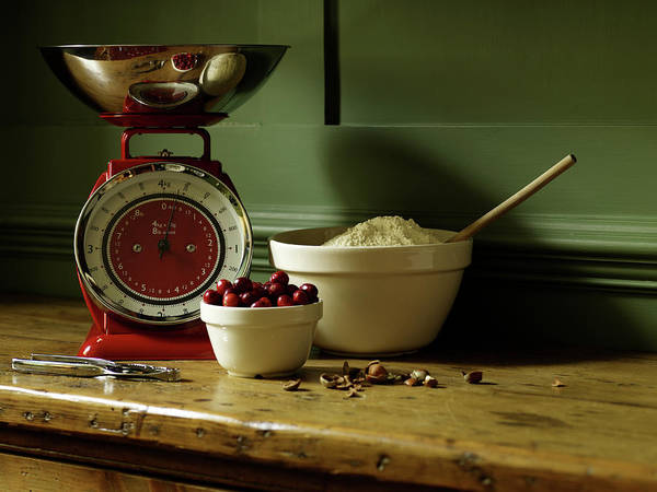 Kitchen Utensil Photograph - Baking Ingredients Sit On Table by Max Oppenheim