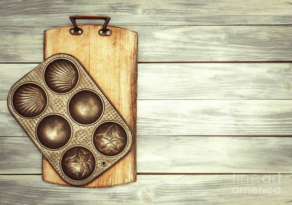 Wall Art - Photograph - Baking Tin And Board by Amanda Elwell