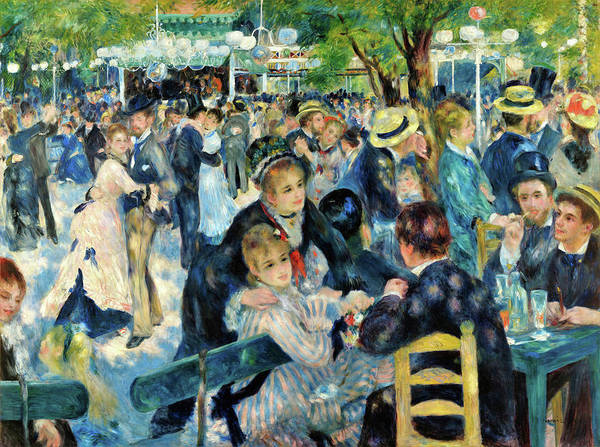 Wall Art - Painting - Bal Du Moulin De La Galette - Digital Remastered Edition by Pierre-Auguste Renoir