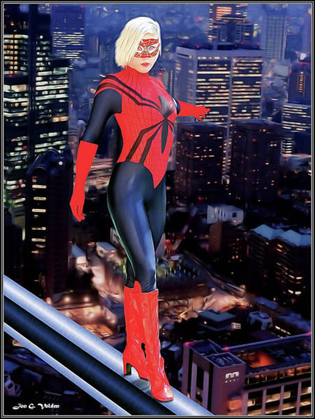 Photograph - Balance Of The Spider Woman by Jon Volden