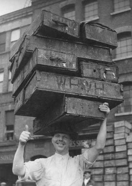 Gesturing Photograph - Balanced Crates by William Vanderson
