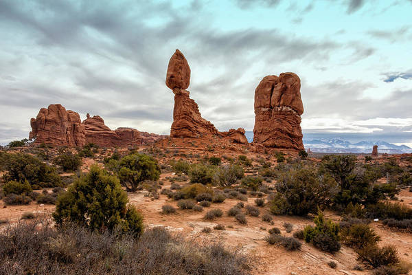 Wall Art - Photograph - Balanced Rock 2 - Arches National Park - Moab Utah by Brian Harig
