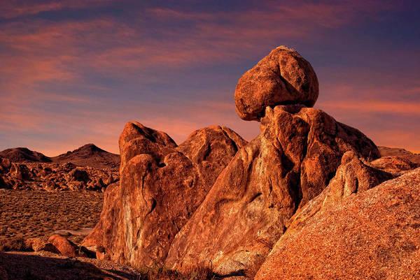 High Dynamic Range Imaging Photograph - Balanced Rock In The Alabama Hills by Bill Wight