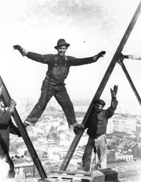 Human Limb Photograph - Balancing Act by Topical Press Agency