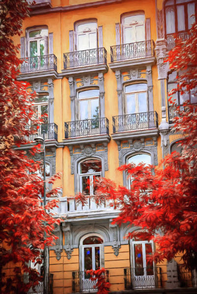 Wall Art - Photograph - Balconies Of Madrid Spain  by Carol Japp
