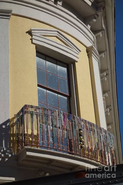 Photograph - Balcony And Beads - New Orleans by Susan Carella