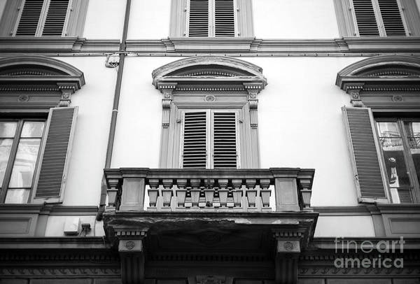Photograph - Balcony Lines In Florence by John Rizzuto