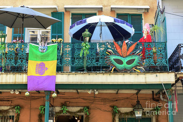 Balcony Party New Orleans Art Print by John Rizzuto