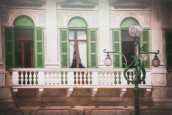 Wall Art - Photograph - Balcony With Green Shutters Verona Italy  by Carol Japp