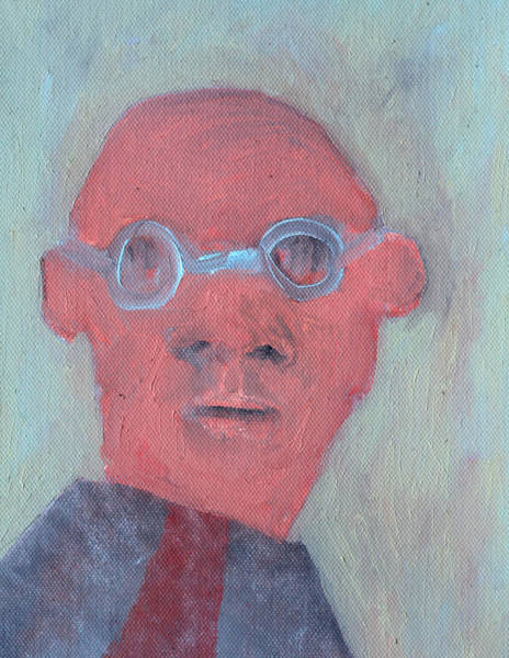 Painting - Bald Man In Glasses by Artist Dot